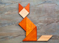 cat figure - tangram abstract - PhotoDune Item for Sale
