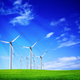 Green meadow with wind turbines - PhotoDune Item for Sale