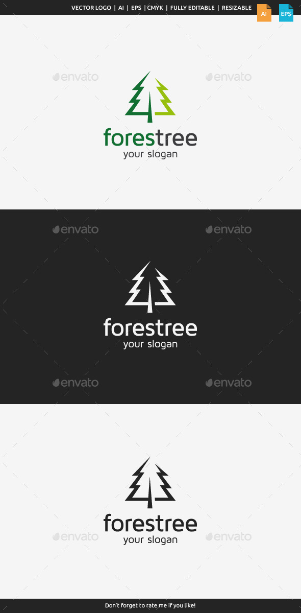 GraphicRiver Forest Tree Logo 8825939