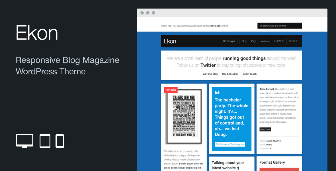 Ekon: Responsive Blog Magazine WordPress Theme