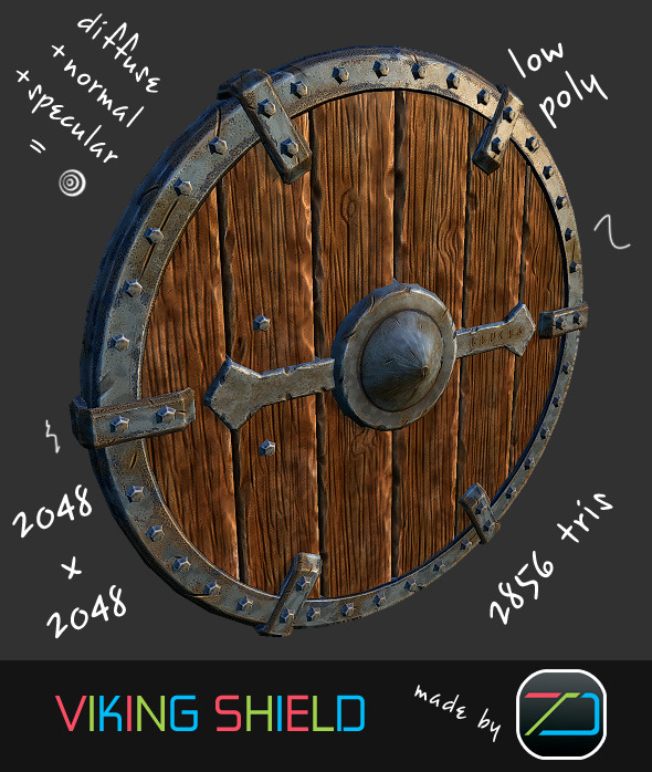 Viking Shield - 3DOcean Item for Sale