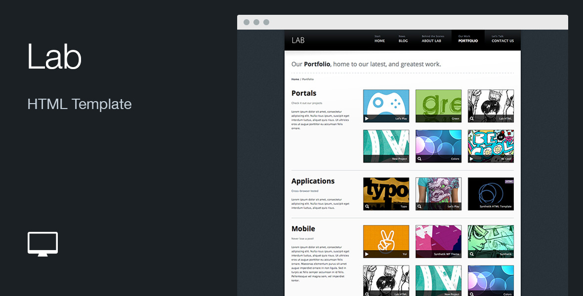 Lab: HTML Template