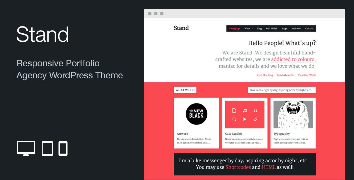 Stand: Responsive Agency Portfolio WordPress Theme