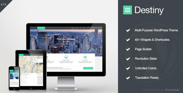 Destiny - Responsive Multi-Purpose WordPress Theme - Creative WordPress