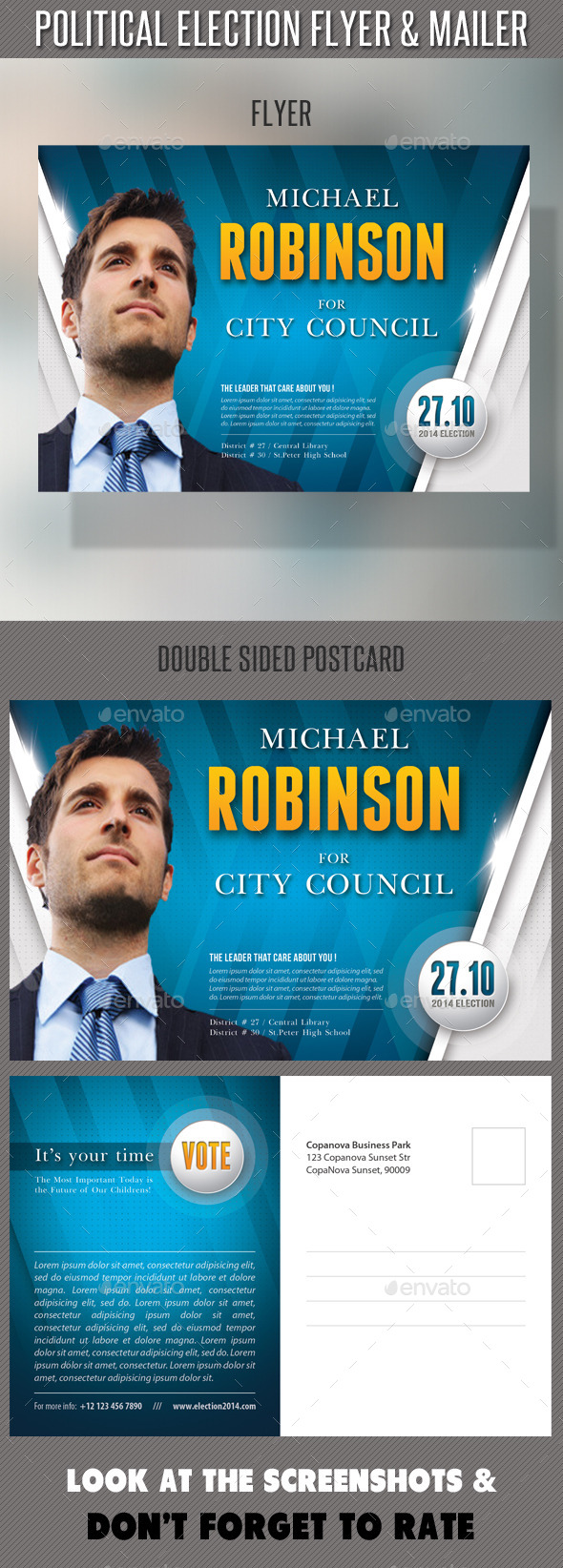 GraphicRiver Political Election Flyer and Mailer Template 8826039