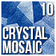 10 Crystal Mosaic Backgrounds - GraphicRiver Item for Sale