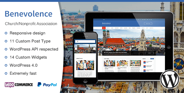 Benevolence - Church / Nonprofit WordPress Theme - Churches Nonprofit