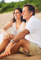 Mature Couple Enjoying Sunset on the Beach - PhotoDune Item for Sale