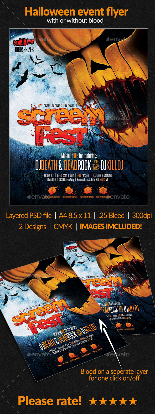 GraphicRiver Halloween event flyer 8773759