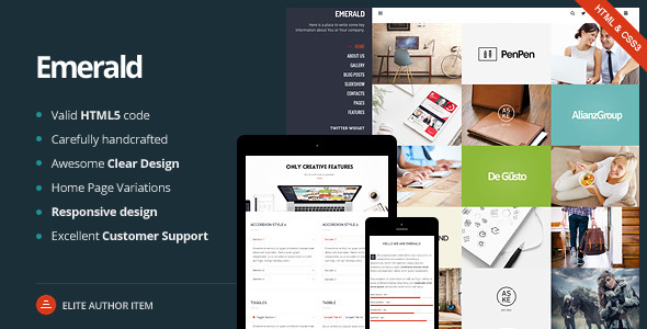 Emerald - Creative Portfolio Template
