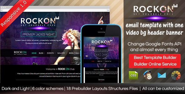 ThemeForest ROCKON Responsive Email Template With Builder 8812818