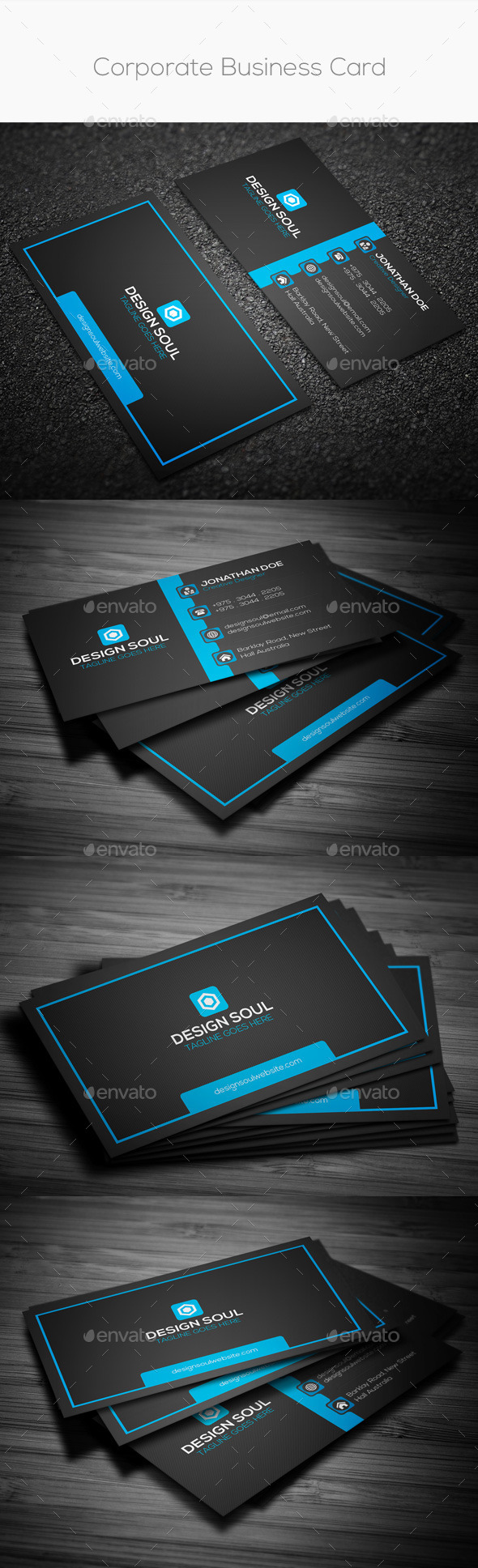 GraphicRiver Corporate Business Card 8826795