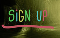 sign up concept - PhotoDune Item for Sale