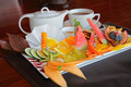 Fruit platter with tea - PhotoDune Item for Sale
