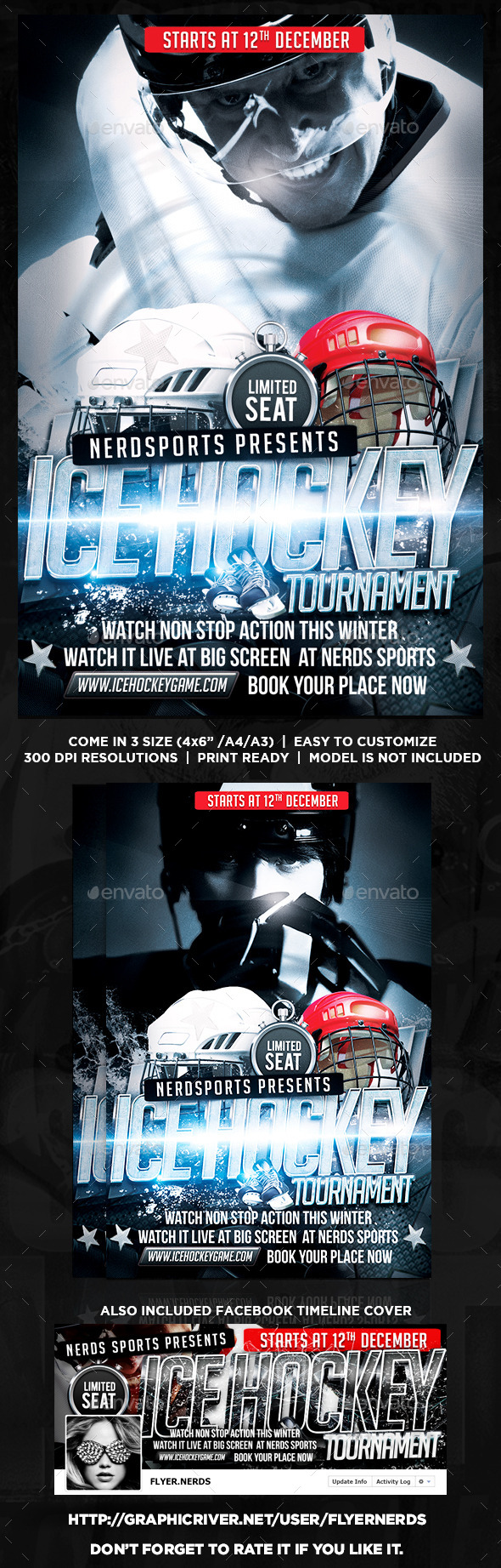GraphicRiver Hockey Tournament Flyer 8827248