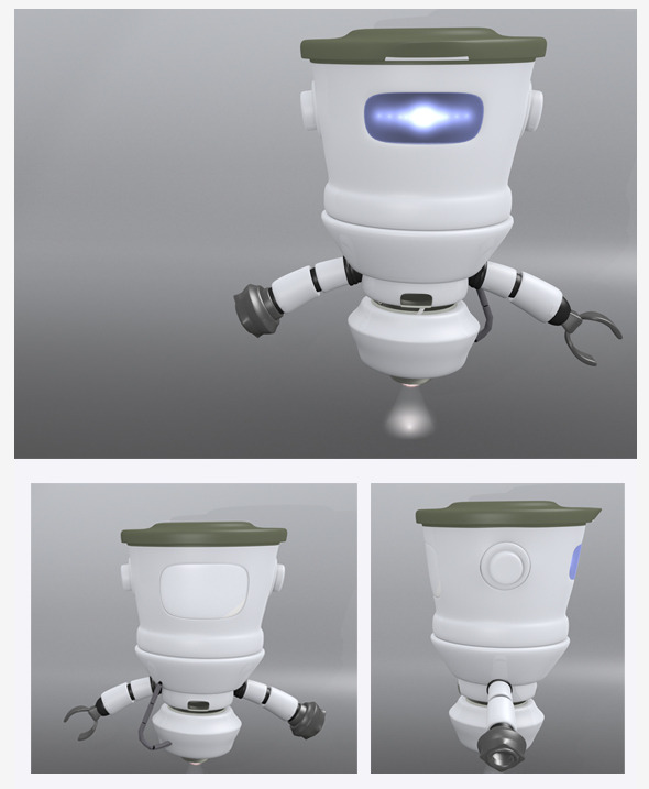 3DOcean 3D Robot BIG HEAD 8827310