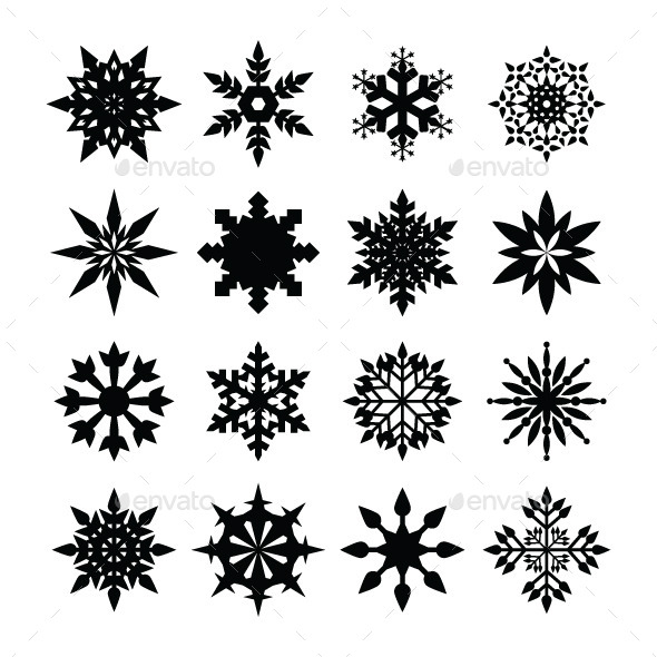 GraphicRiver Snowflakes Icon 8827435