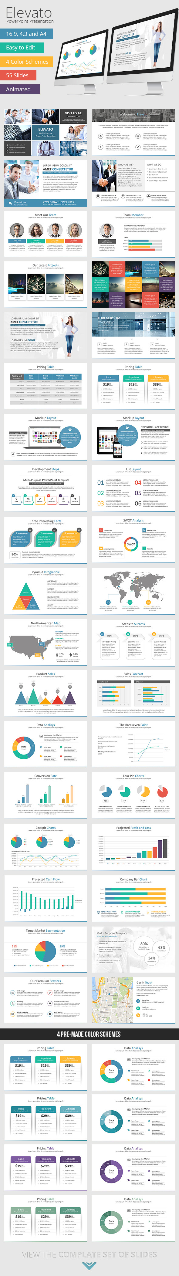GraphicRiver Elevato PowerPoint Presentation Template 8828070
