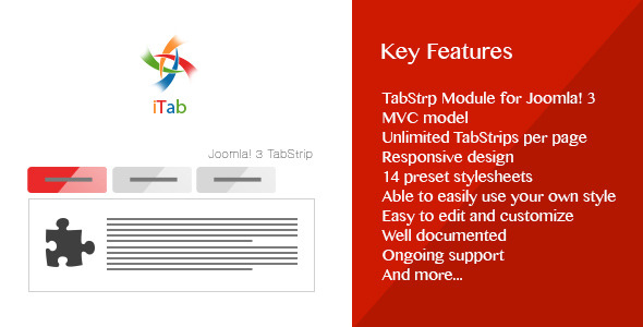CodeCanyon iTab Responsive TabStrip Module for Joomla 3 8828144