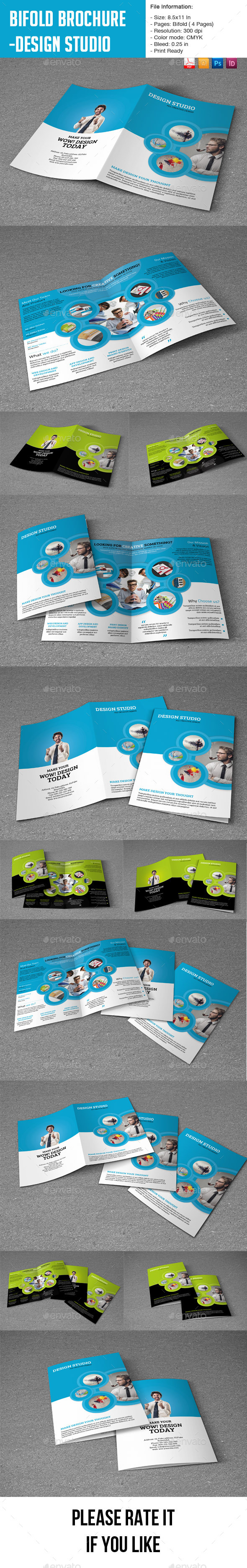 GraphicRiver Bifold Brochure for Design Studio- 4 Pages 8828152