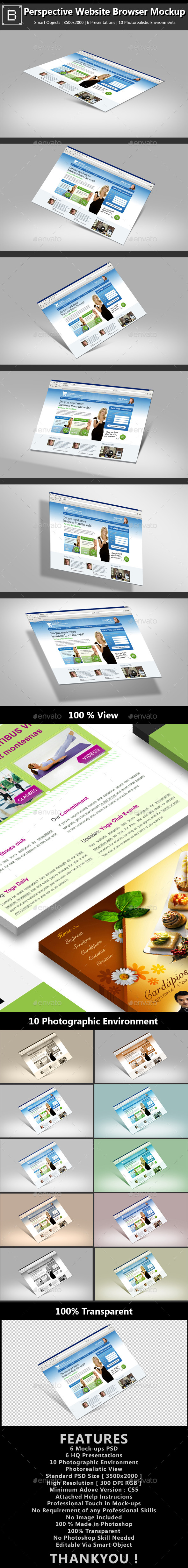 GraphicRiver Perspective Web-browser Screen Mockup 8828209