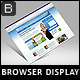 Perspective Web-browser Screen Mockup - GraphicRiver Item for Sale