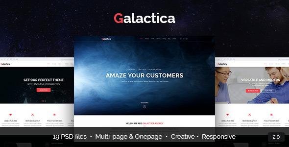 Galactica – Multi-purpose Creative PSD Template