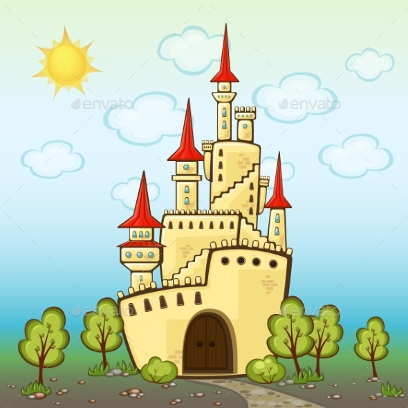 GraphicRiver Castle in Cartoon Style 8828514