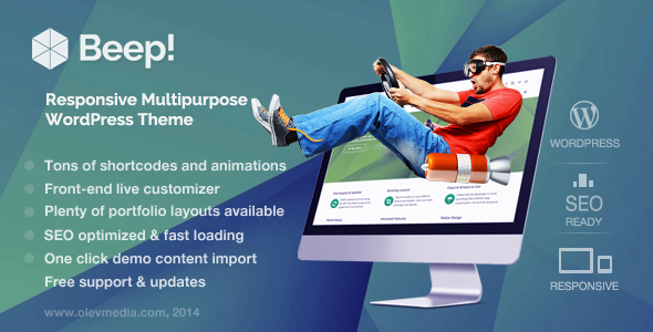Beep! — Responsive Multi-Purpose Wordpress Theme - Business Corporate