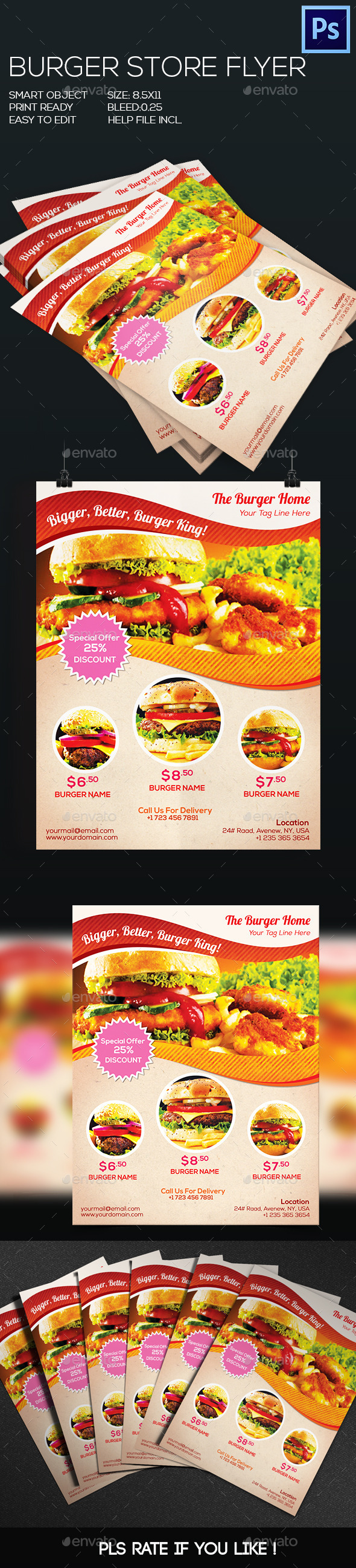 GraphicRiver Burger Flyer 8828574