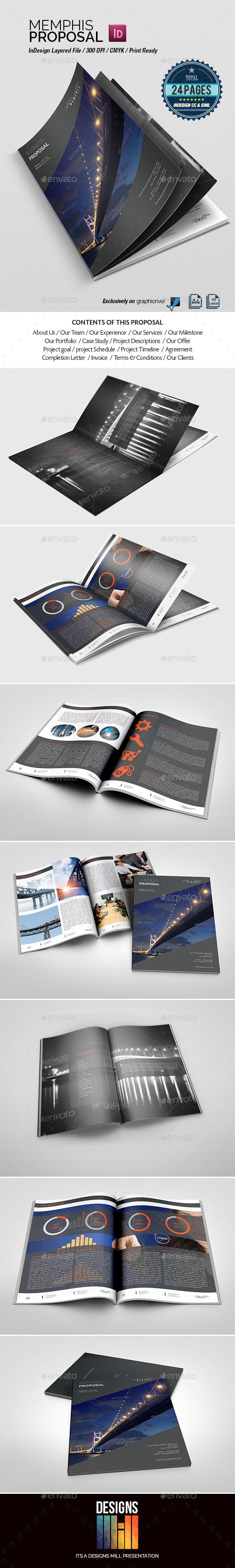 GraphicRiver Memphis Multipurpose Proposal 8828585