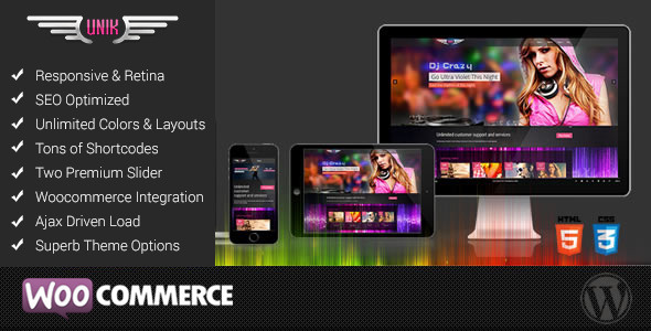 UNIK - Universal Music Responsive Wordpress Theme - Music and Bands Entertainment