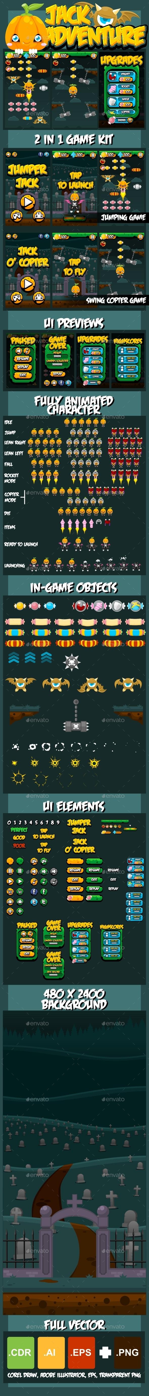 GraphicRiver Jack Adventure Game Kit 8829226