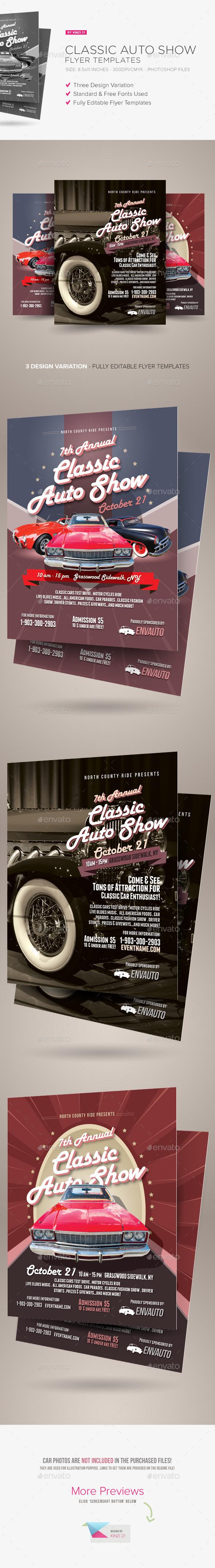 GraphicRiver Classic Auto Show Flyers 8829272