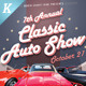 Classic Auto Show Flyers - GraphicRiver Item for Sale