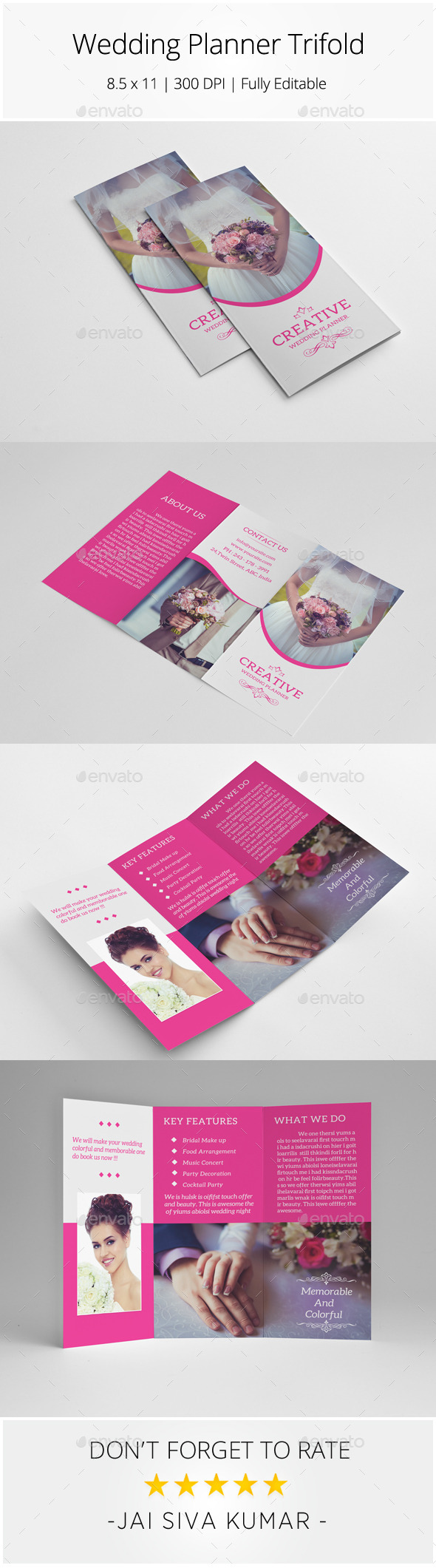 GraphicRiver Wedding Planner Trifold 8829645