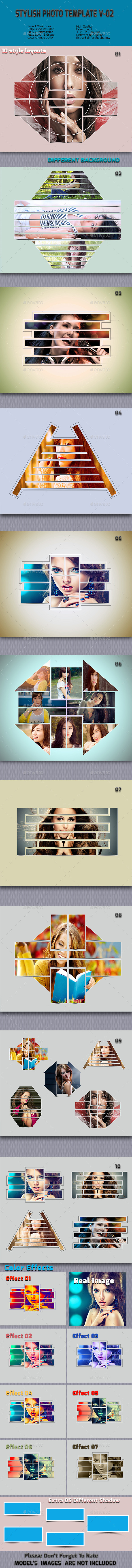 GraphicRiver Stylish Photo Frame Templates V-02 8829806
