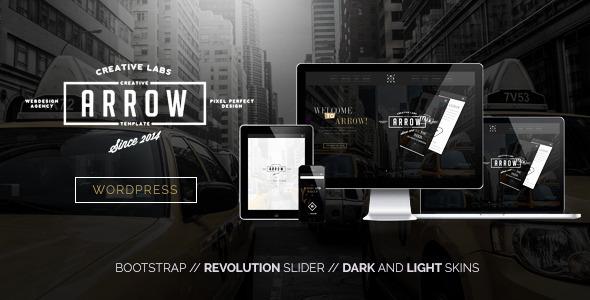 ThemeForest Arrow Creative One Page WordPress Theme 8789637