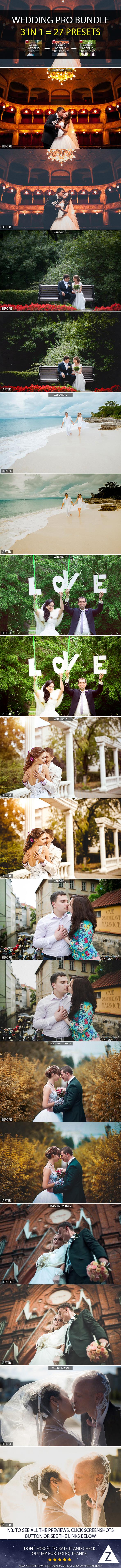 GraphicRiver 3-in-1 Pro Wedding Bundle 8830304