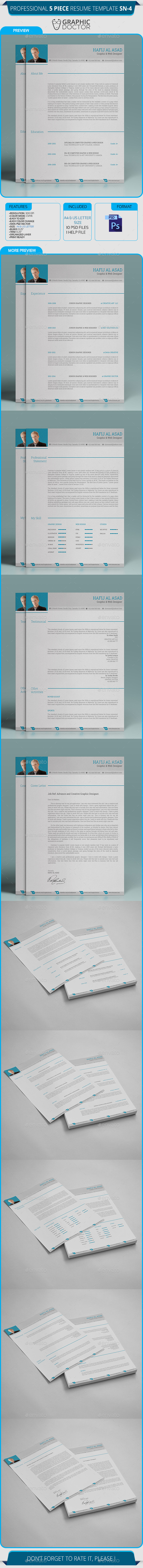 GraphicRiver Corporate Resume Template SN-04 8824778