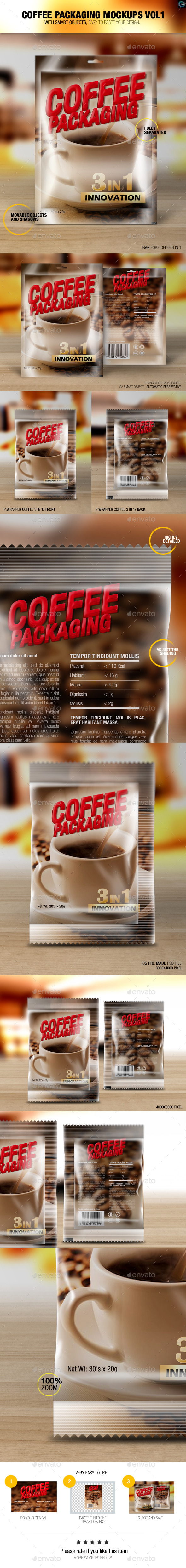 GraphicRiver Coffee Packaging Mockups Vol1 8830559