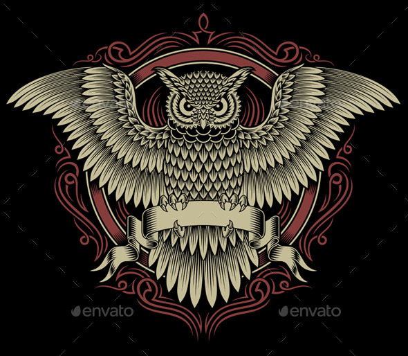 GraphicRiver Owl Crest 8830581
