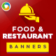 Restaurant and Cafe Banner Bundle -  3 Sets - GraphicRiver Item for Sale
