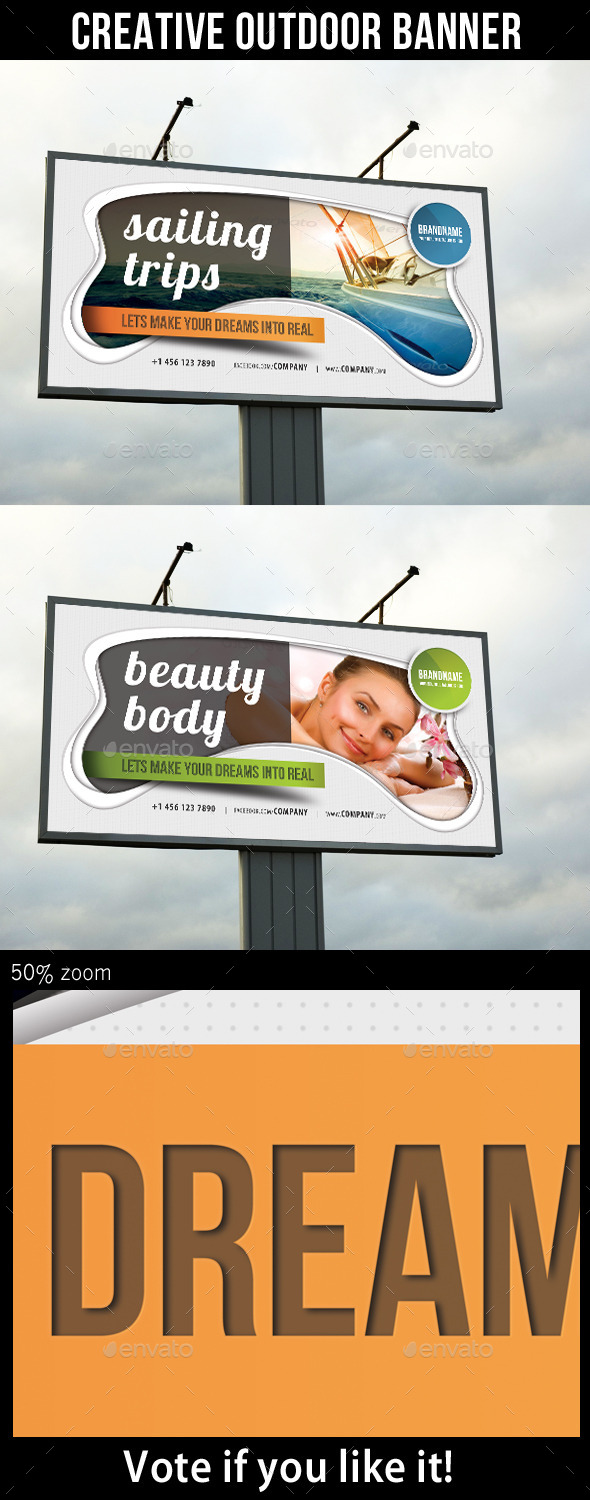GraphicRiver Creative Multipurpose Outdoor Banner 8831193