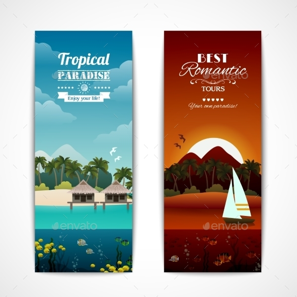 GraphicRiver Tropical Island Banners 8831230