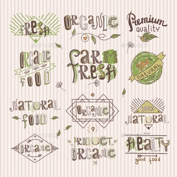 GraphicRiver Natural Food Label 8831236