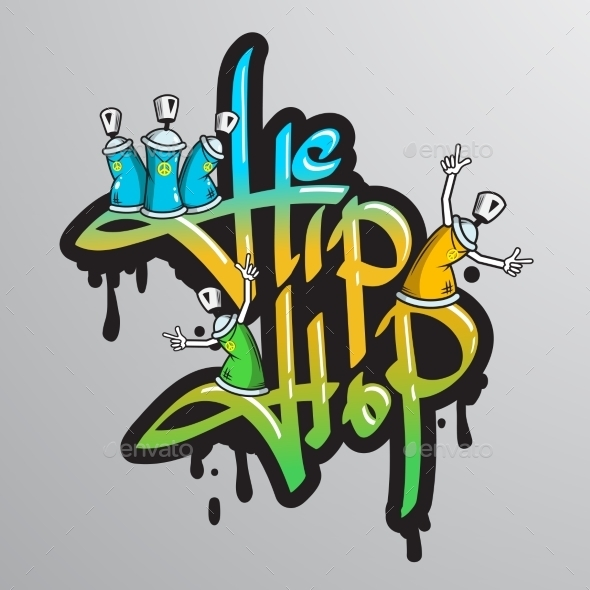 GraphicRiver Graffiti Word Characters Print 8831282