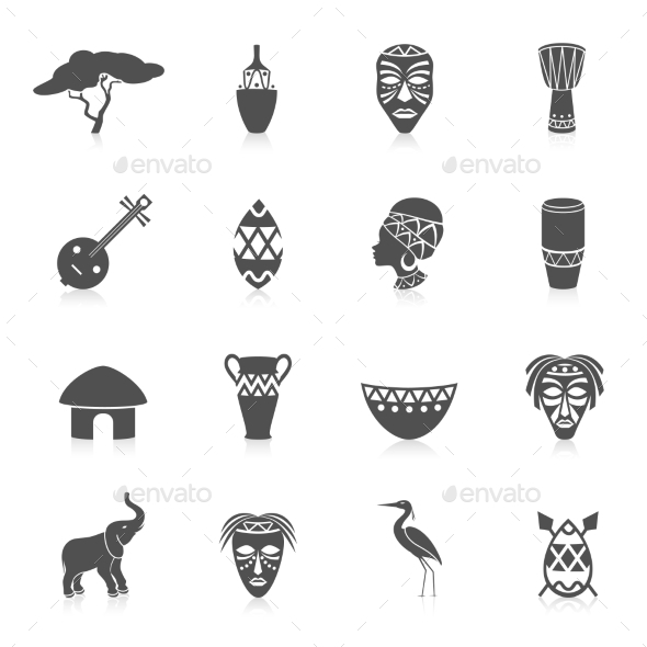 GraphicRiver Africa Icons Set 8831285