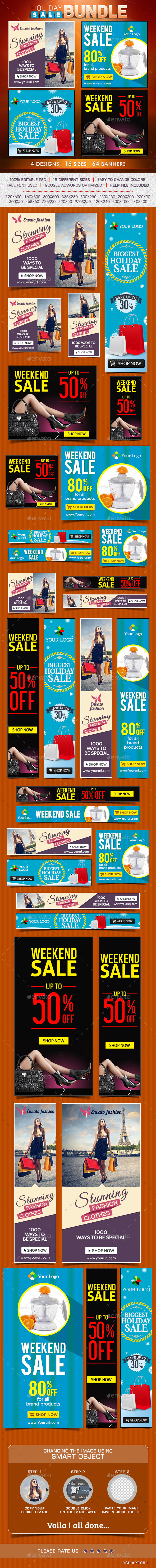 GraphicRiver Special Sale Banner Bundle 4 Sets 8831331