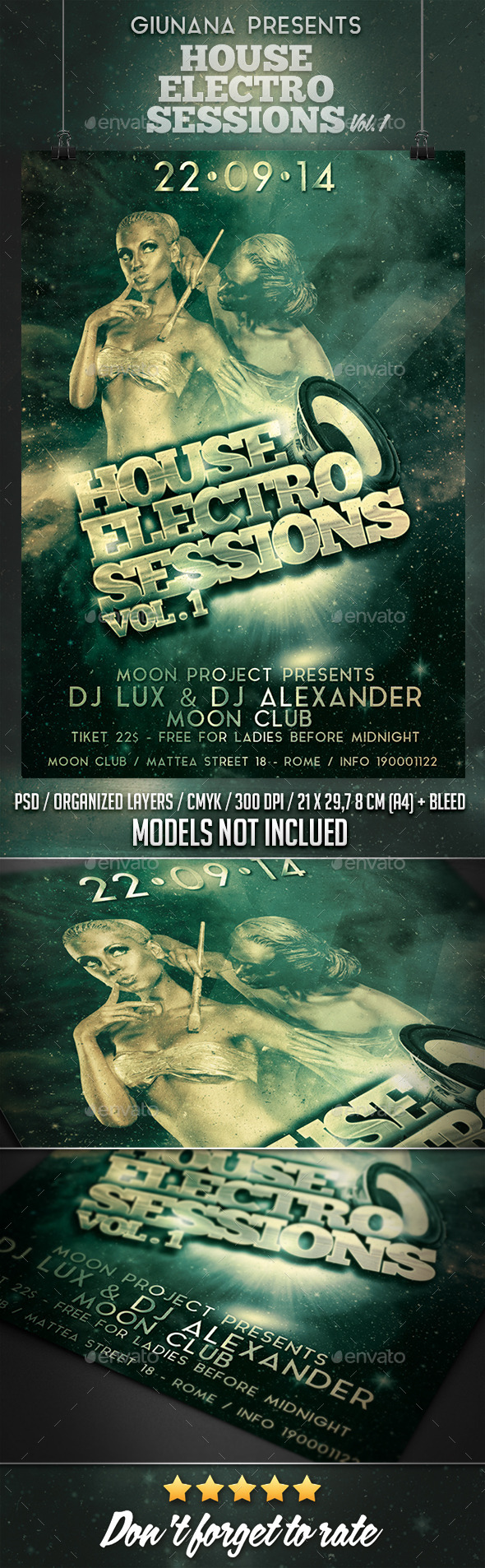 GraphicRiver Electro House Sessions Vol 1 Flyer Poster 8831408